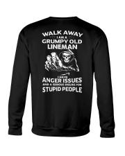 Walk Away I Am A Grumpy Old Lineman Crewneck Sweatshirt thumbnail