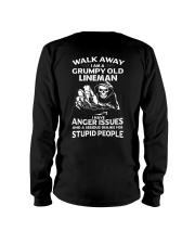 Walk Away I Am A Grumpy Old Lineman Long Sleeve Tee thumbnail