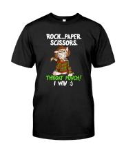 ROCK PAPER SCISSORS THROAT PUNCH I WIN Classic T-Shirt front