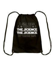 I am one with the science Drawstring Bag thumbnail