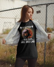 A witch Her cat Her lab Classic T-Shirt apparel-classic-tshirt-lifestyle-07
