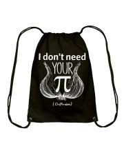 I dont need your opinion Drawstring Bag thumbnail