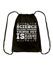 Science because figuring things Drawstring Bag thumbnail