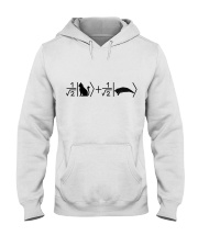 Schrödinger's cat black Hooded Sweatshirt front