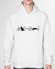 Schrödinger's cat black Hooded Sweatshirt garment-hooded-sweatshirt-front-04
