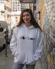 Schrödinger's cat black Hooded Sweatshirt lifestyle-unisex-hoodie-front-1