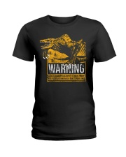 Skullcrawler Warning Ladies T-Shirt thumbnail