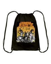 Halloween witch Drawstring Bag thumbnail