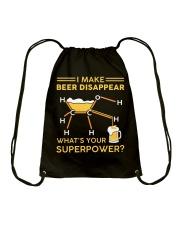 I make beer disappear Drawstring Bag thumbnail