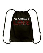 All you need is love Drawstring Bag thumbnail