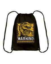 Dinasour warning Drawstring Bag thumbnail