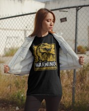 Dinasour warning Classic T-Shirt apparel-classic-tshirt-lifestyle-07