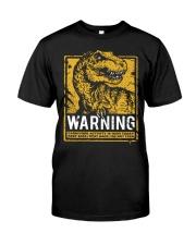 Dinasour warning Classic T-Shirt front