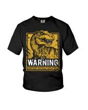 Dinasour warning Youth T-Shirt thumbnail