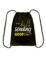 Sending good vibes Drawstring Bag thumbnail