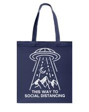 This way to Social Distancing Tote Bag thumbnail