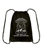 This way to Social Distancing Drawstring Bag thumbnail