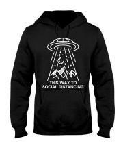 This way to Social Distancing Hooded Sweatshirt thumbnail