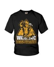 Jason Voorhees Warning Youth T-Shirt thumbnail