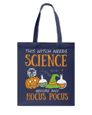 This witch needs science before any Hocus Focus Tote Bag thumbnail