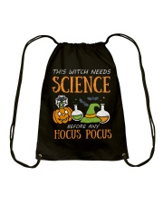 This witch needs science before any Hocus Focus Drawstring Bag thumbnail