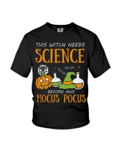 This witch needs science before any Hocus Focus Youth T-Shirt thumbnail