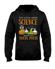 This witch needs science before any Hocus Focus Hooded Sweatshirt thumbnail