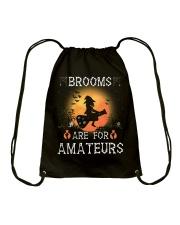 Brooms are for amateurs  Drawstring Bag thumbnail