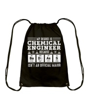 My degree is chemical engineer Drawstring Bag thumbnail