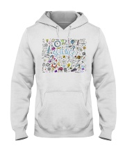Science of icons set Hooded Sweatshirt thumbnail