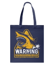Shark warning Tote Bag thumbnail