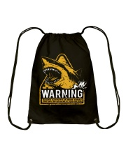 Shark warning Drawstring Bag thumbnail