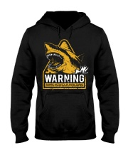 Shark warning Hooded Sweatshirt thumbnail