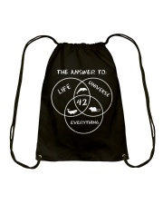 The Answer To Life Universe Everything Drawstring Bag thumbnail