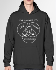 The Answer To Life Universe Everything Hooded Sweatshirt garment-hooded-sweatshirt-front-04