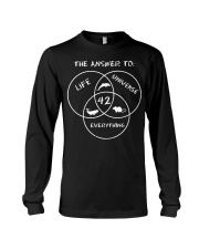 The Answer To Life Universe Everything Long Sleeve Tee thumbnail