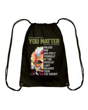You Matter Drawstring Bag thumbnail