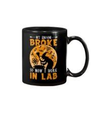 My broom broke so now I work in lab Mug thumbnail