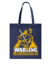 Leatherface Warning Tote Bag thumbnail