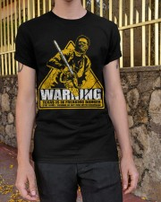 Leatherface Warning Classic T-Shirt apparel-classic-tshirt-lifestyle-21
