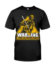 Leatherface Warning Classic T-Shirt front