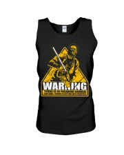 Leatherface Warning Unisex Tank thumbnail
