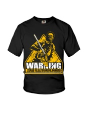 Leatherface Warning Youth T-Shirt thumbnail