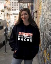 Bacon hungry Hooded Sweatshirt lifestyle-unisex-hoodie-front-1