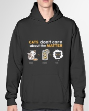 Cats don't care about the matter Hooded Sweatshirt garment-hooded-sweatshirt-front-04