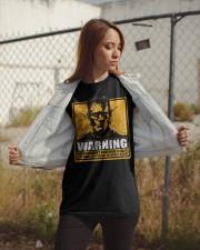 Frankenstein Warning Classic T-Shirt apparel-classic-tshirt-lifestyle-07