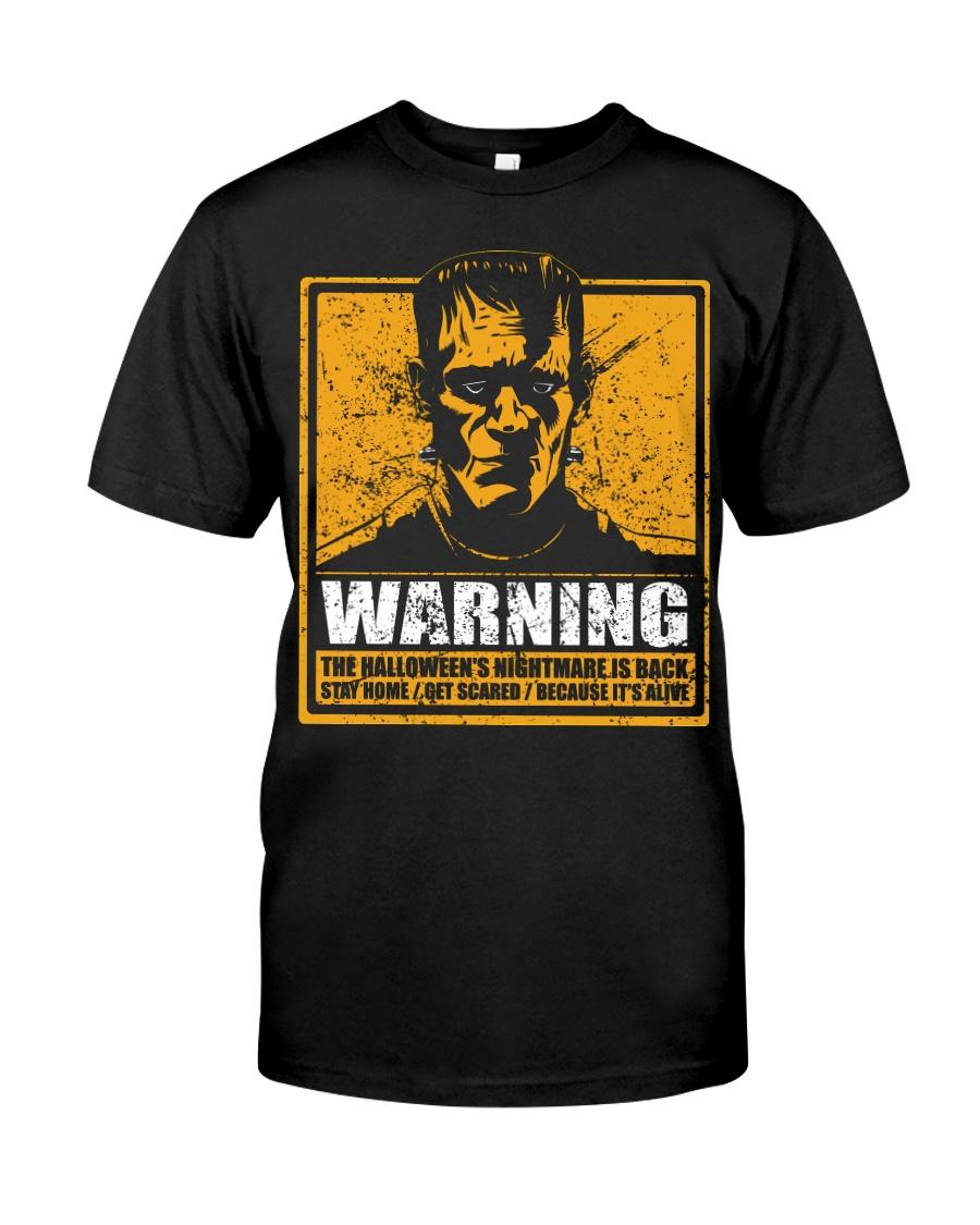 Frankenstein Warning Classic T-Shirt