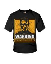 Frankenstein Warning Youth T-Shirt thumbnail