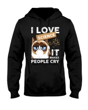 I love science Hooded Sweatshirt front