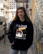 I love science Hooded Sweatshirt lifestyle-unisex-hoodie-front-1